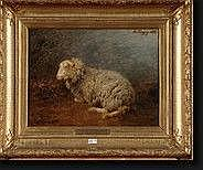 TSCHAGGENY Edmond (1818-1873). Huile sur toile