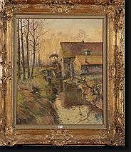 FERMEUSE Victor (1894-1963). Huile sur toile