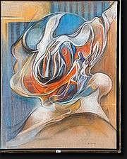JUNG Simonetta (1917-2005). Onto-rythmes n°27,