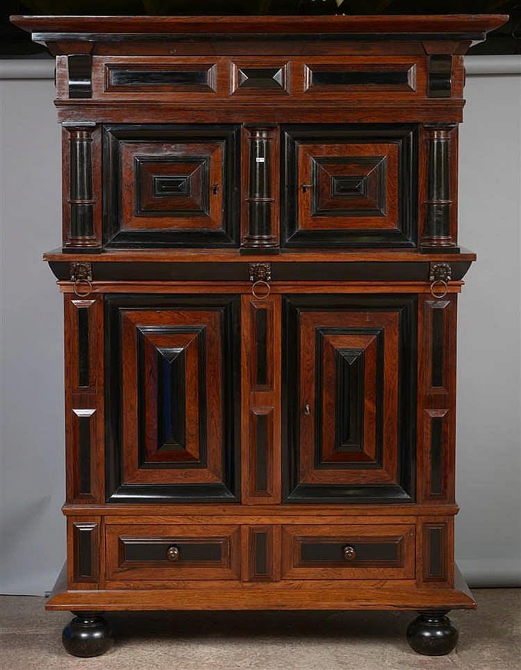 double corps en placage de palissandre d 39 b ne et bois noir. Black Bedroom Furniture Sets. Home Design Ideas
