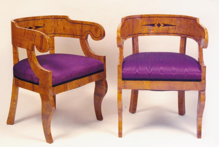 Magnificent Russian Biedermeier Chairs (pair)