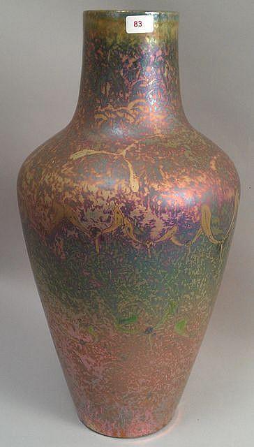 j r me massier fils 1850 12916 vase de forme cylindrique. Black Bedroom Furniture Sets. Home Design Ideas