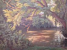 """Armand J-B.SÉGAUD (1875-1956) """" La Dordogne, prés de Sarlat""""."""