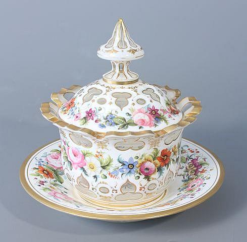 Sucrier bord dentel et son pr sentoir en verre doubl d 39 - Guirlandes de fleurs ...