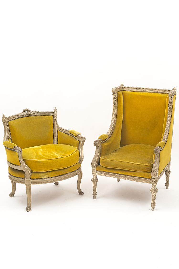 ensemble comprenant une marquise et une berg re oreilles e. Black Bedroom Furniture Sets. Home Design Ideas