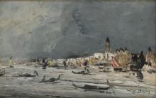 Édouard Jacques Dufeu (Marseille 1836 - 1900 le Grasse), Vue de Venise.