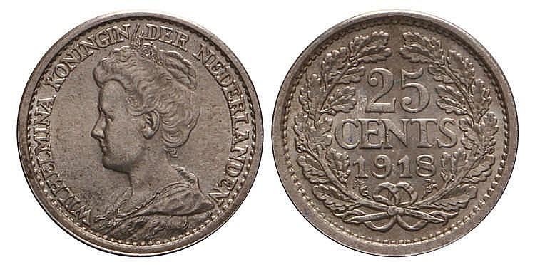 25 Cent Wilhelmina 1918 Fdc