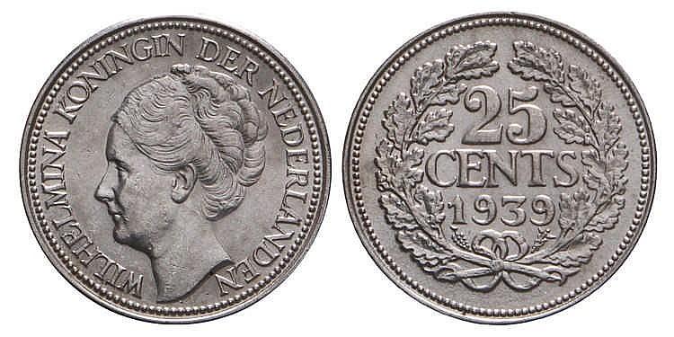 25 Cent Wilhelmina 1939 Fdc