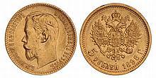 Russia. Nicholas II. 5 Roubles. 1898.