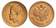 Russia. Nicolas II. 10 Roubles. 1899 F.
