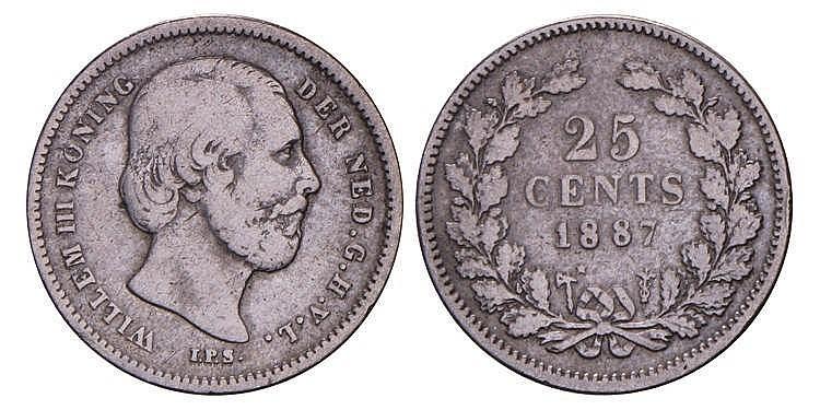 25 Cent Willem Iii 1887 Fraai