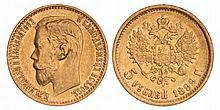 Russia. Nicholas II. 5 Roubles. 1899.