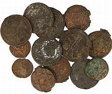 Morocco. Lot (14) cast bronzes.