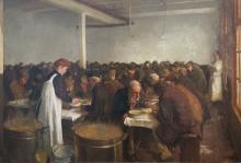 Ferdinand Gustaaf Willem Oldewelt (Amsterdam 1857- 1935 Laren, NH), Food distribution, Amsterdam.