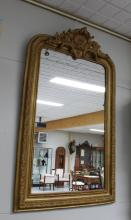 A rectangular mirror in gilded profile list, 19th century.