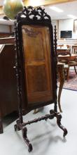 A rectangular length mirror, England 19th century.