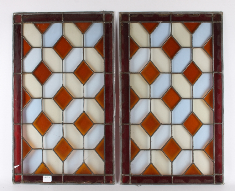 One set of stained glass windows around 1900 for 1900 stained glass window