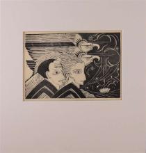 "Rädecker, Johannes Anton (John) (Amsterdam 1885-1956) ""Heads and birds"","