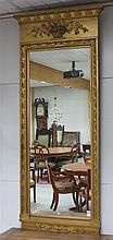 A rectangular mirror in Empire gilt profile frame, around 1800.