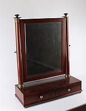 Biedermeier mahogany vanity mirror, 19th century.