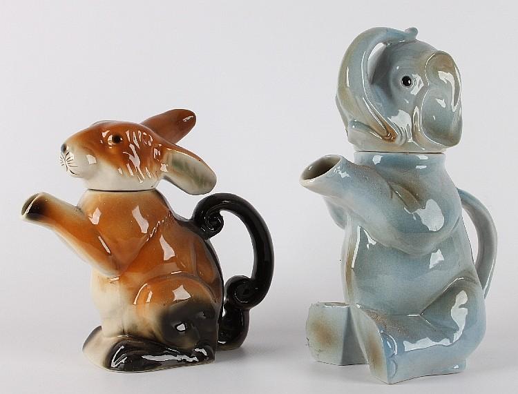 A gray porcelain teapot in the shape of an elephant circa 1 - Elephant shaped teapot ...
