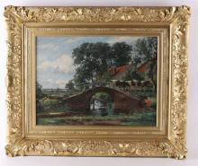 Haaren, by Drik Johannes (1878-1953) 'Arch bridge with cows',