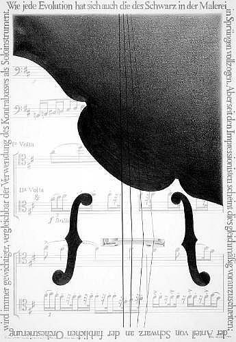 Mields, Rune (geb. 1935 Münster). Le noir est une