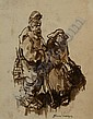 Moerkerk, H. (1879-1949), ink drawing, Farmer and, Hermanus Antonius Josephus Maria Moerkerk, Click for value