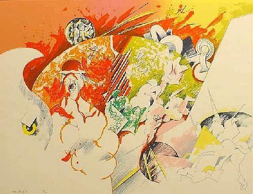 Soest, P.G.C. van (born Venlo 1930), lithography,