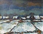 Henk Potters (1924-2003), oil on canvas, Winter