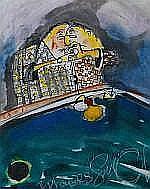 Guy Olivier (1964), mixed media, II Players, sig.