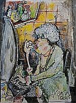 Guy Olivier (1964), mixed media, The baroness,