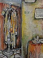 Guy Olivier (1964), mixed media, The hatstand,