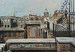 Anneke Boot (1945), oil on canvas, The roofs of