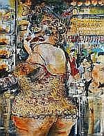 Guy Olivier (1964), oil on canvas, Friterie Guy