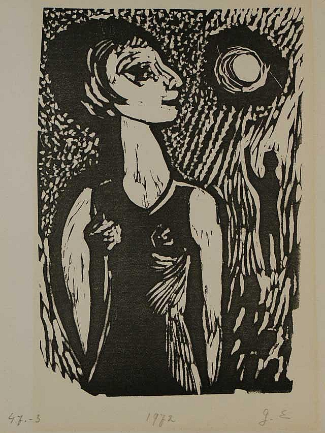 Eggen, H.J. (1921-2000), 4 linocuts, different
