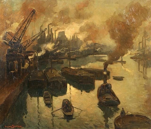Janssen, L. (1888-1954), oil on canvas, Industrie
