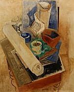 Otto van Rees (1884-1957), olieverf op doek,