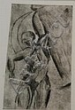 Ger Boosten (1947), dry needle etching, Icarus, Gér Boosten, Click for value