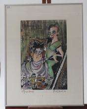 Guy Olivier (1964), mixed media, Mirror image, sig. b.r., dated '95, dim. 45 x 30 cm, Provenance: La