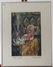 Guy Olivier (1964), mixed media, Paternoster, sig. b.r., dated '95, dim. 45 x 30 cm, Provenance: Lan