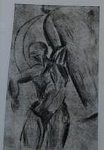 Ger Boosten (1947), dry needle etching, Icarus