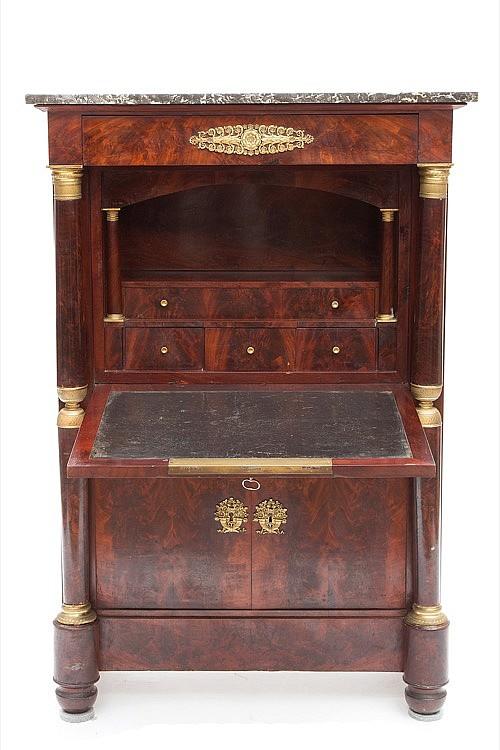 a mahogany secretaire a abattant. Black Bedroom Furniture Sets. Home Design Ideas