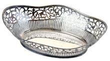 A silver plated breadbasket