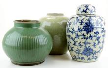 Three Chinese porcelain jars