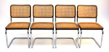 After Marcel Breuer: a set of four Cesca side chairs BR32: 1928