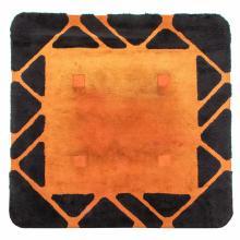 A black and orange rug