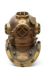 A U.S. Navy diving helmet