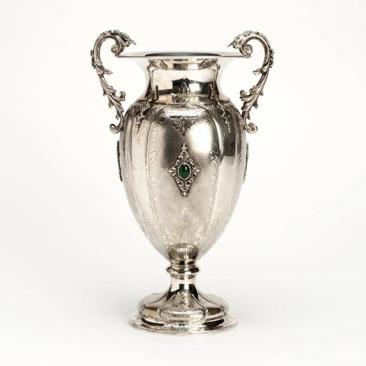 a silver vase italy