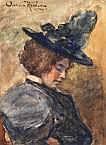 Anna Elisabeth Kerling (1862-1955) Dame met zwarte